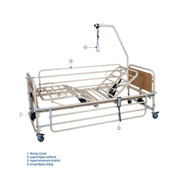 Κρεβάτι νοσοκομειακό ηλεκτροκίνητο πολύσπαστο πλήρες